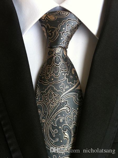 8 Estilos Trajes de los hombres de la vendimia Corbata de Paisley Corbatas a cuadros de seda de poliéster Floral Gravata para hombres Vestidos Corbatas de moda de flores para los hombres