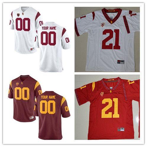 c2f890a8782 USC Trojans NCAA College Football Jerseys Custom Any Name Any Number ...
