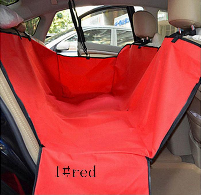 Car Pet Seat Covers Universal Waterproof Hammock Style Scratch Proof Oxford Fabric With Zipper Double Deck Black Blue Red Design Travel Bed
