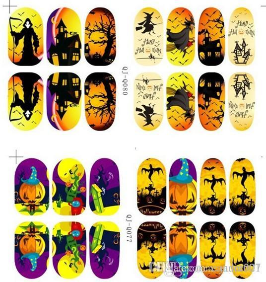 Halloween Nail Art Foils Luminous Nail Decal Wraps 14 Decals Sheet
