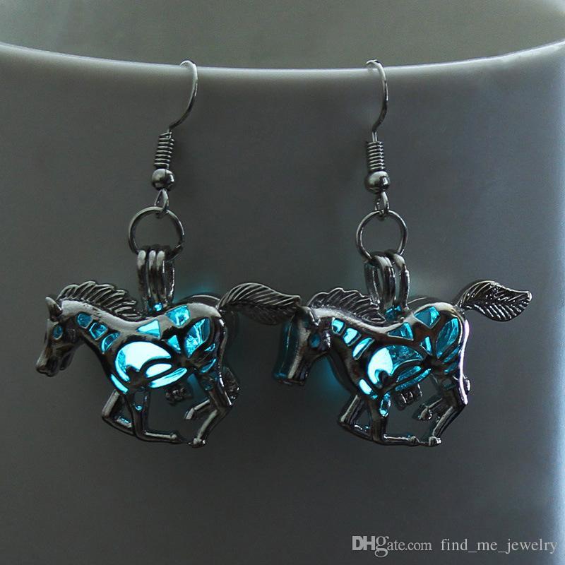 2018 originalité punk cheval boucles d'oreilles pour les femmes bijoux mode multicolore hallowmas nuit boucles d'oreilles livraison gratuite gros cadeau