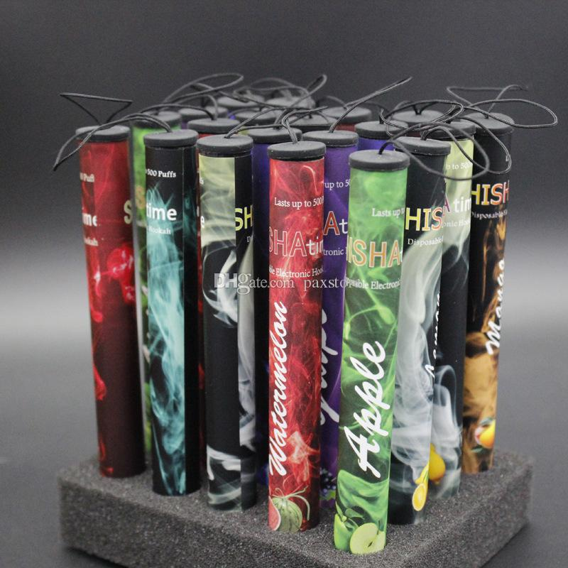 E ShiSha Hookah Pipe Pen Disposable Electronic Cigarette Fruit Juice E Cig Stick Shisha Time 500 Puffs DHL FREE
