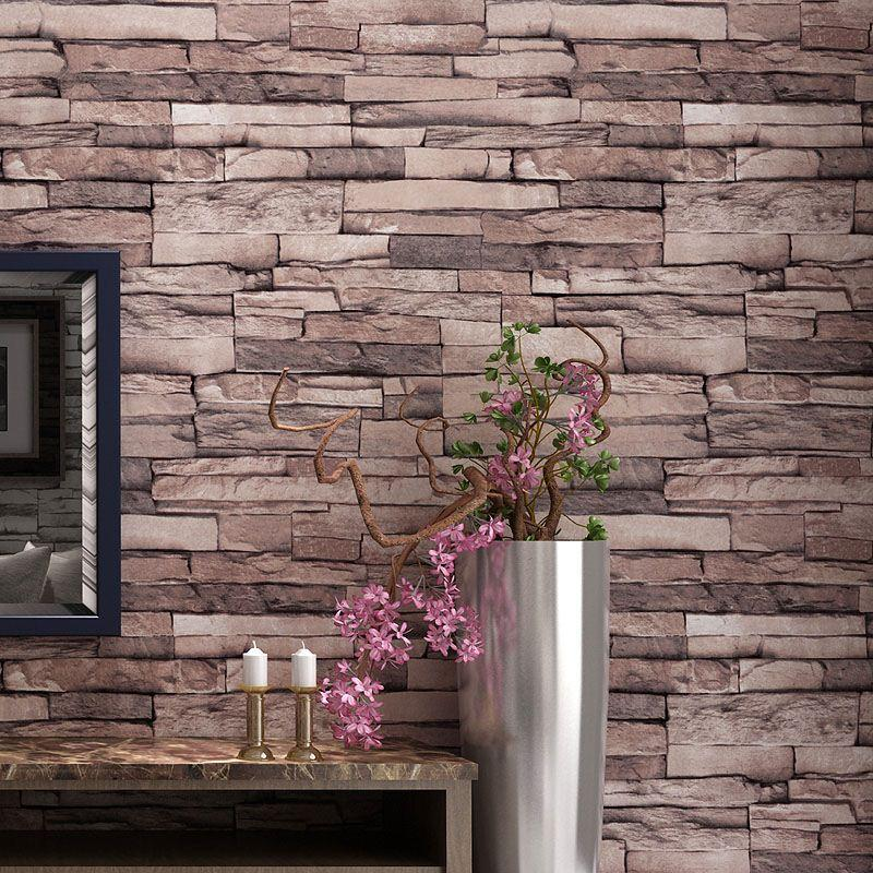 Chinese style 3d brick pattern wallpaper waterproof - Papel vintage pared ...