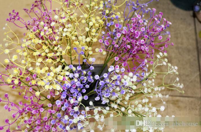 Gypsophila ipek bebek nefes Yapay Sahte İpek Çiçek Bitki Ev Düğün Ev Dekorasyon Ücretsiz Kargo
