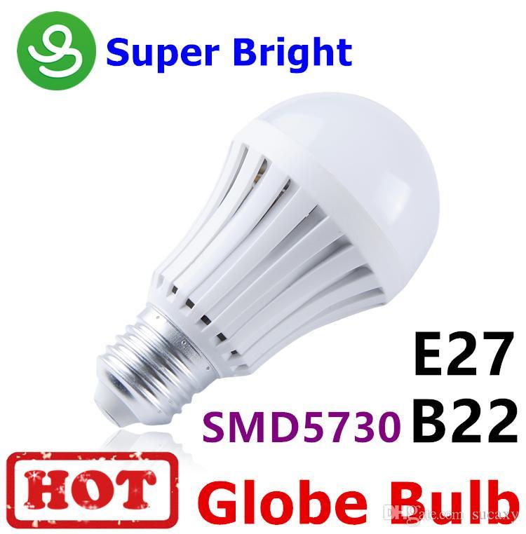 LED Ampuller B22 E27 Küre Ampul 110 V / 220 V 7 W 9 W 12 W Süper Parlak Cree LED Lamba Toptan Ücretsiz Kargo