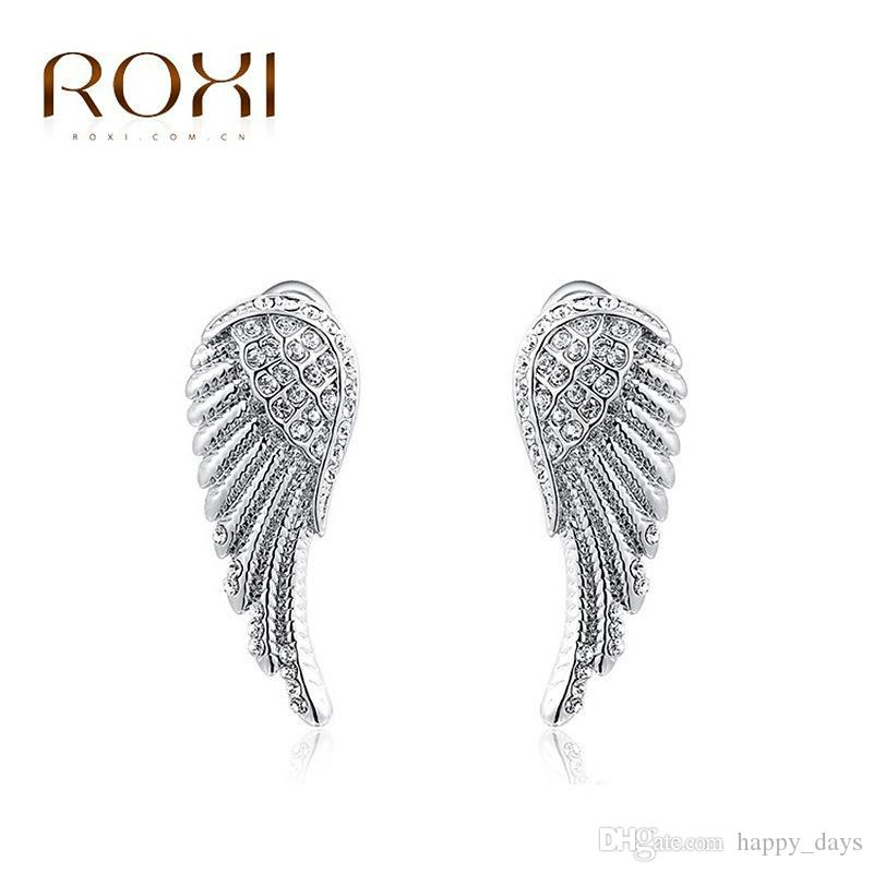 2018 Wholesale Sell Well Earring Austria Crystal White Wing Ear Wire ...