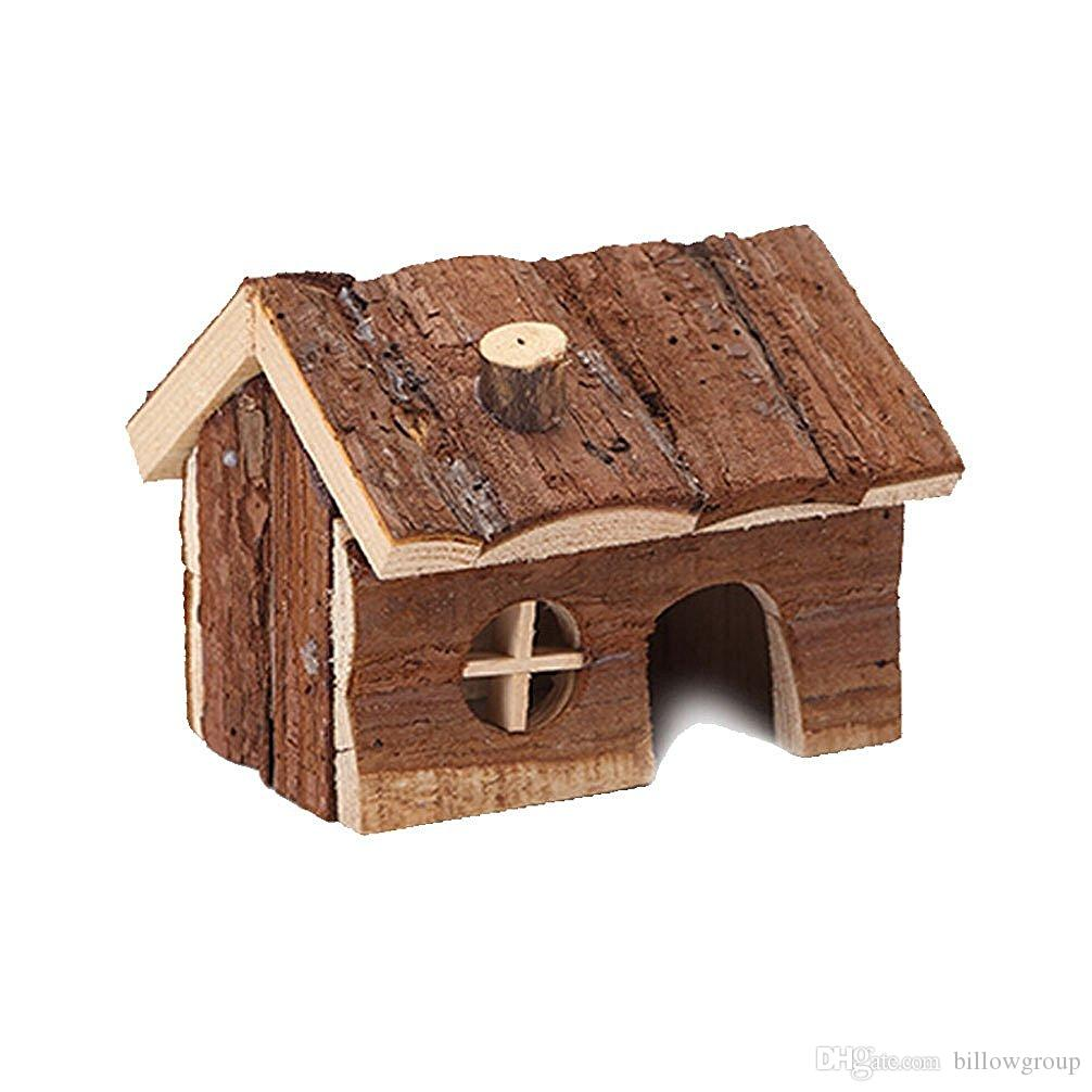 Natural Wooden House Wood Hut Living Habitat For Hamsters Mouse And Other  Small Furry Animals Animal Pet Supplies Animal Pet Supply From Billowgroup,  ...