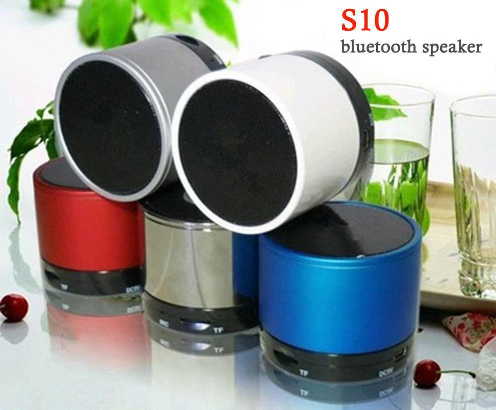 Online Cheap Bluetooth Speakers S10 Mini Wireless Portable Speaker Hi Fi Music Player Stereo Subwoofers Home Audio Support Tf Card Fm Mp4 By