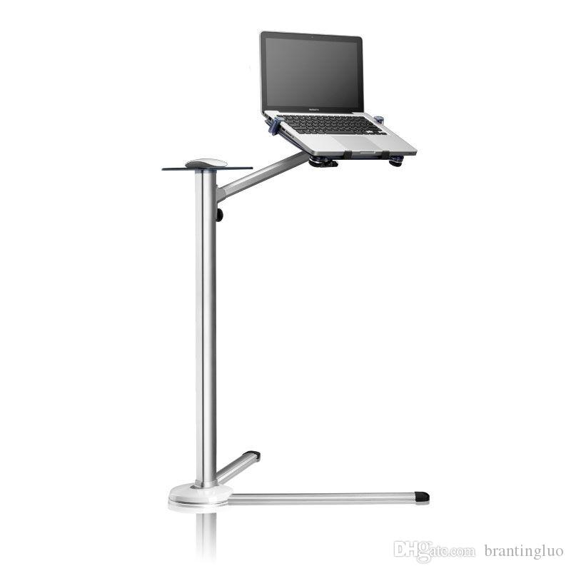 2018 360 Degree Rotation Up 7 Height Adjule Laptop Floor Stand With Mouse Tray Aluminum Alloy Ergonomics Desk Holder From Brantingluo