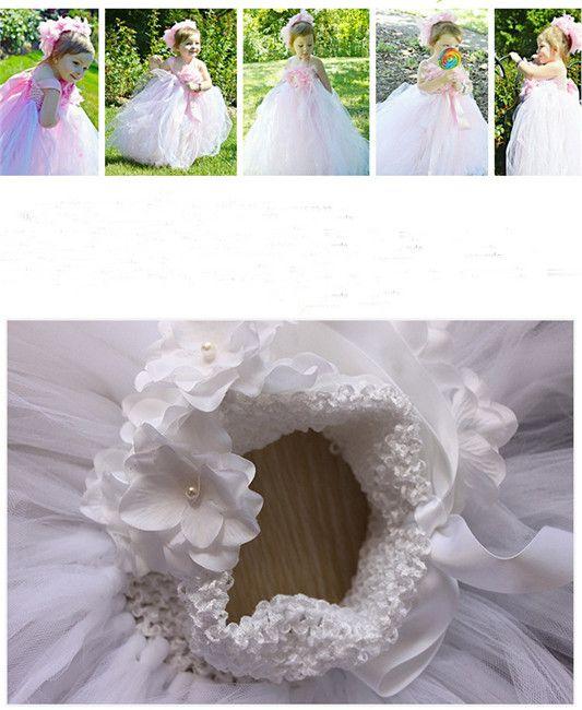 Nueva niña de las flores princesa de encaje vestido completo princesa del bebé vestidos de fiesta lindos vestido del tutú de los niños ropa al por mayor