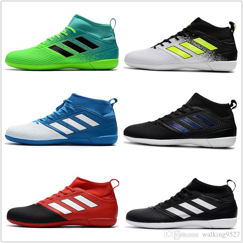 baa35ae36ee31 2017 Adidas ACE 17.3 Primemesh IC Indoor Soccer Shoes Football Boots High  Top MenS Soccer Cleats Ace 17 New Running Shoes for Men Yeezy Boost V2  Adidas Nmd ...