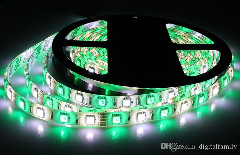 Best Price Led Strip Light RGBW 5M 5050 SMD 300Led Waterproof IP65 + 44Key Controller + 5A Power Supply With Retail Package Christmas Gifts