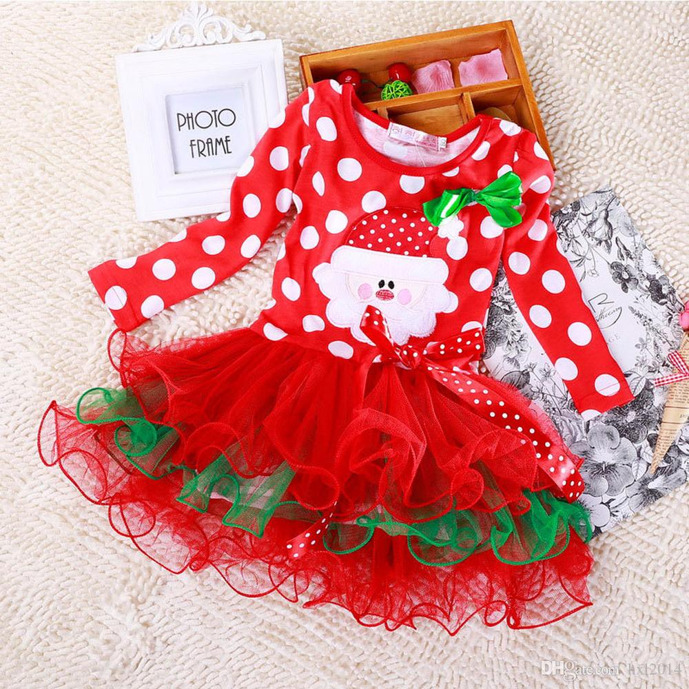 2018 Xmas Children Baby Christmas Dress Girls Kids Clothing