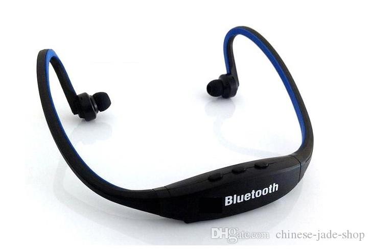 S9 Draadloze Hoofdtelefoon Stereo Headset Sport Bluetooth Luidspreker Neckband Peal White Opp Pakket /