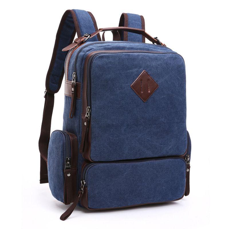 b1fd5b61a86f Woman Backpack Ladies Famous Brand Designer Handbag Fashion Vintage Canvas  Bag Men Backpacks Travel Bags Satchel School Laptop Bag DHL Free School Bags  ...