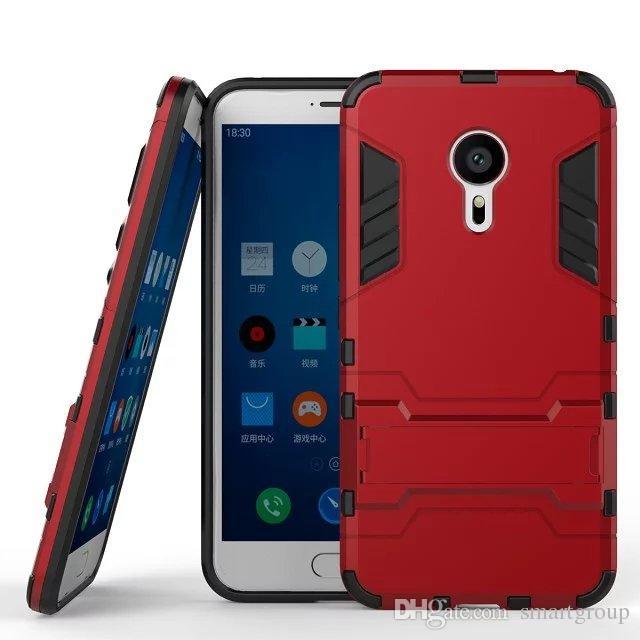 Meizu MX5 Pro için Kılıf Sağlam Combo Hibrid Zırh Braketi Darbe Koruyucu Kılıf Kapak Meizu MX5 Pro