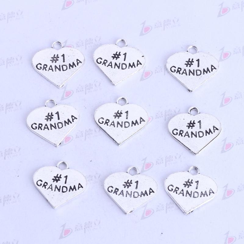 # 1 abuela plana amor colgante de plata antigua / bronce retro diy encantos de la joyería collar o pulseras aptos 500 unids / lote 3431