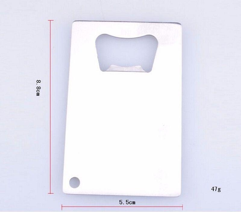 Personalized Credit Card Sized Bottle Opener Custom Company Logo Engraved / Printed Metal Business Card Bottle Opener wen4451
