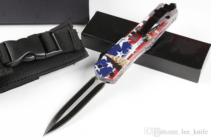 HIght Recommend Injured tooth dragon A07 four British American flag 4modelal Hunting Folding Pocket Knife copies