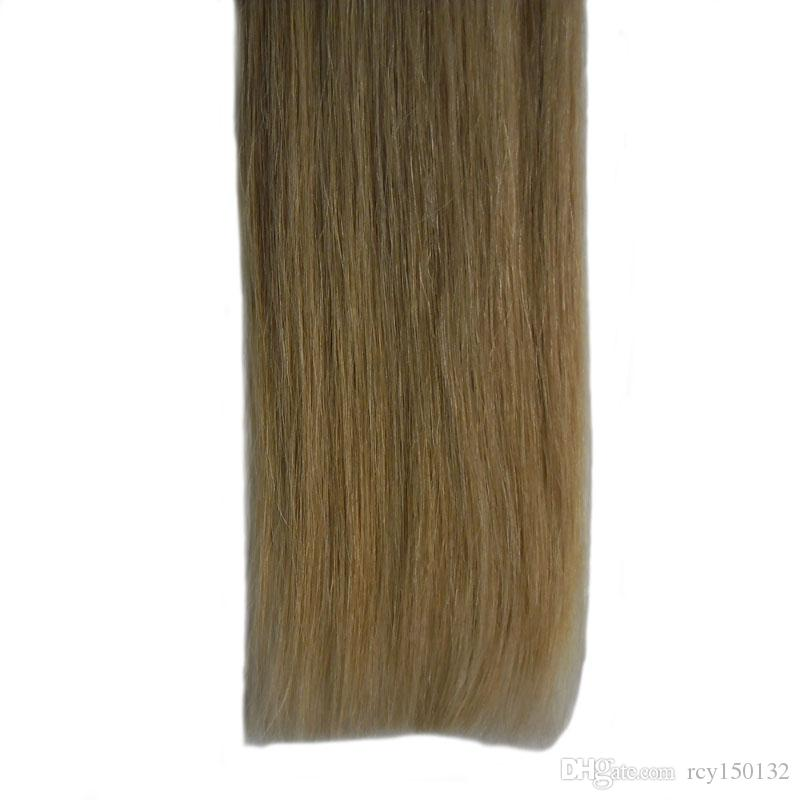 T1B/613 blonde two tone ombre brazilian virgin hair Straight tape in human hair extensions 100g hair extension