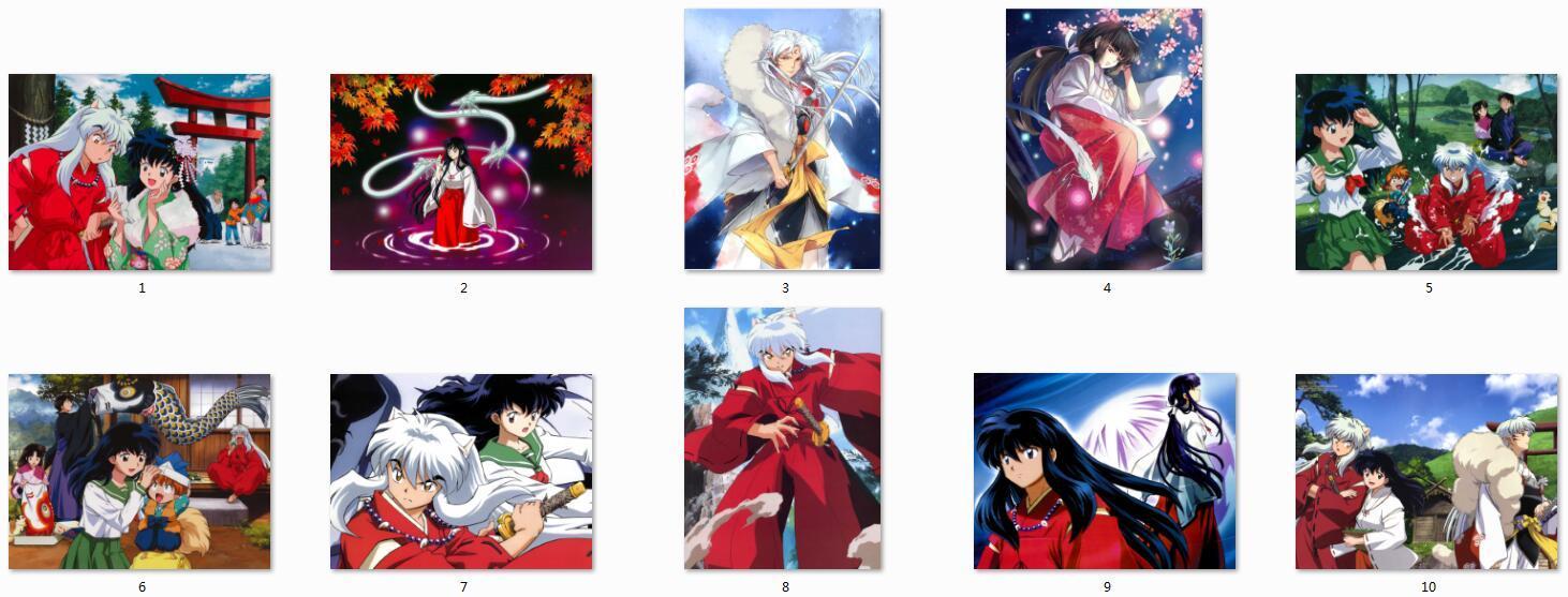 Hot Anime Inuyasha Characters Kagome Higurashi & Kikyo Custom Sheet ...