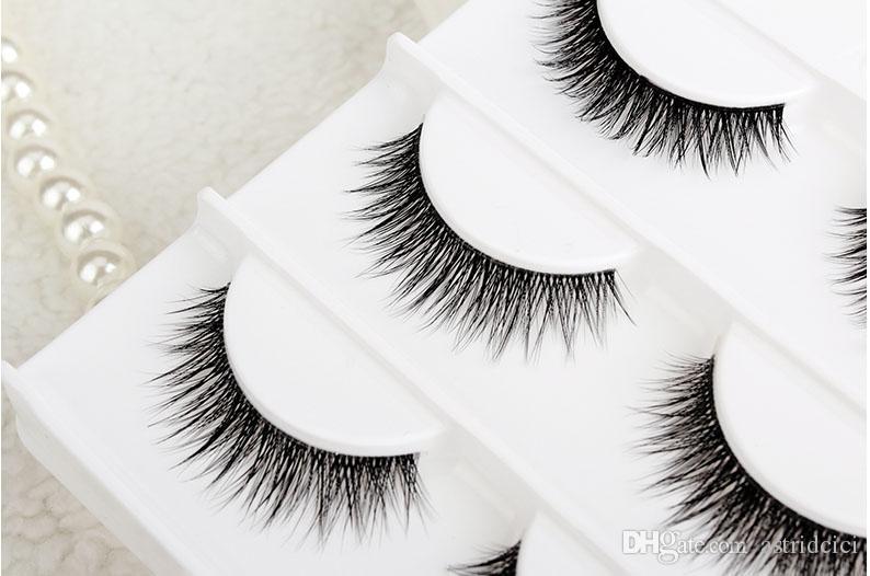 Handmade 3D Layer Lash Strips Natural thick Fake lashes Natural Long 3D False Eyelashes Makeup Handmade Thick Fake Eye Lashes Extens