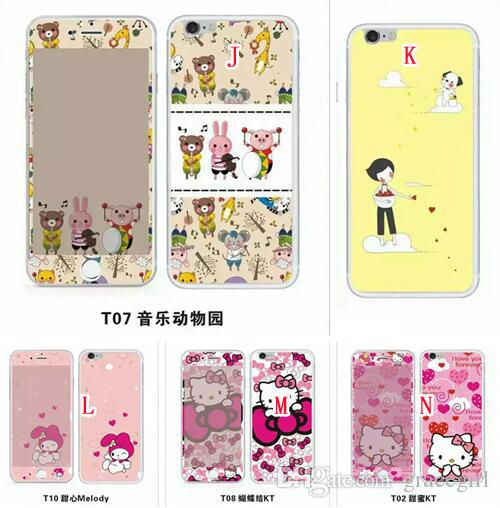 Full Coverage Body Temperated Glass Fronte Retro 3D Cartoon Screen Protector Pellicola Guardia My Melody Soft per Iphone 6S 6 plus 4.7 5.5 Skin Package