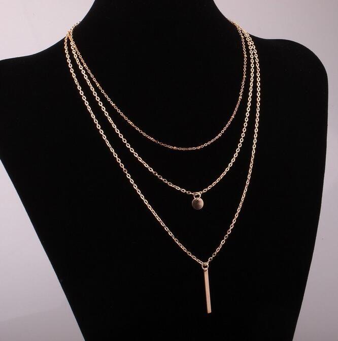2016 new arrival charme jóias mulheres colares steampunk pingentes contas de Cobre colar Multilayer EXL98