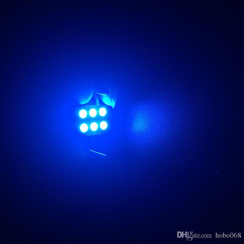 Ice Blue 31 milímetros 6-SMD 5050 Car TRACK Interior Reading Lâmpadas Festoon Dome Light LED Lamp
