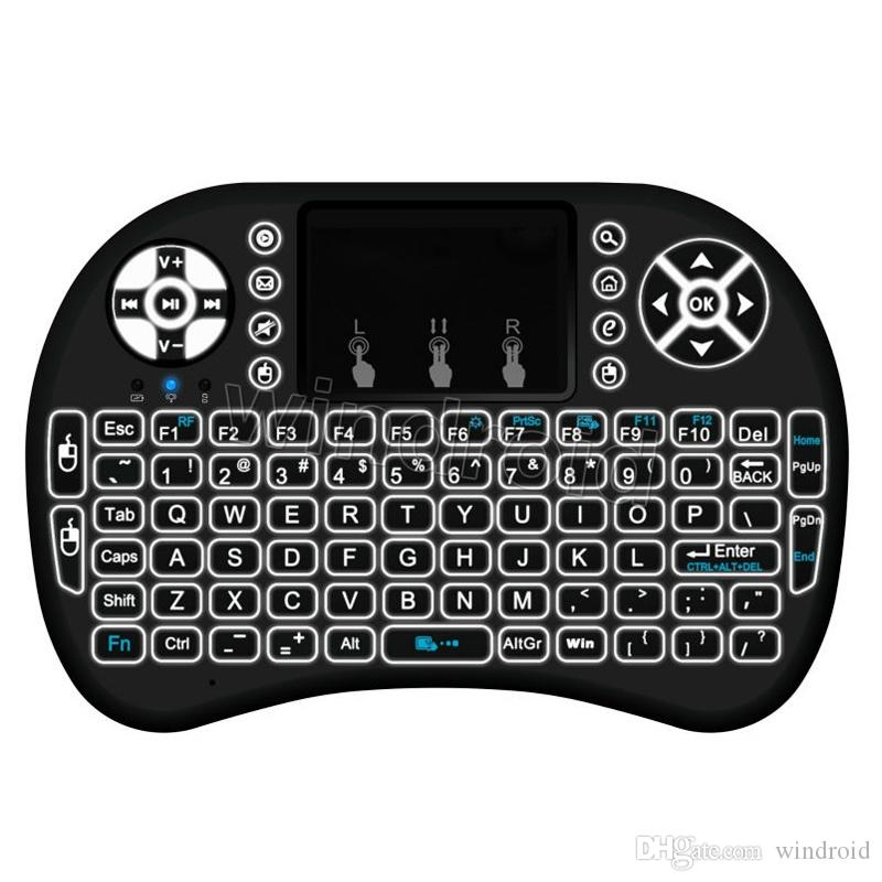 Rii I8 plus i8+ Smart Fly Air Mouse Remote Backlight Wireless Bluetooth Keyboard Remote Control Touchpad For Android Box MX3 M8S LED