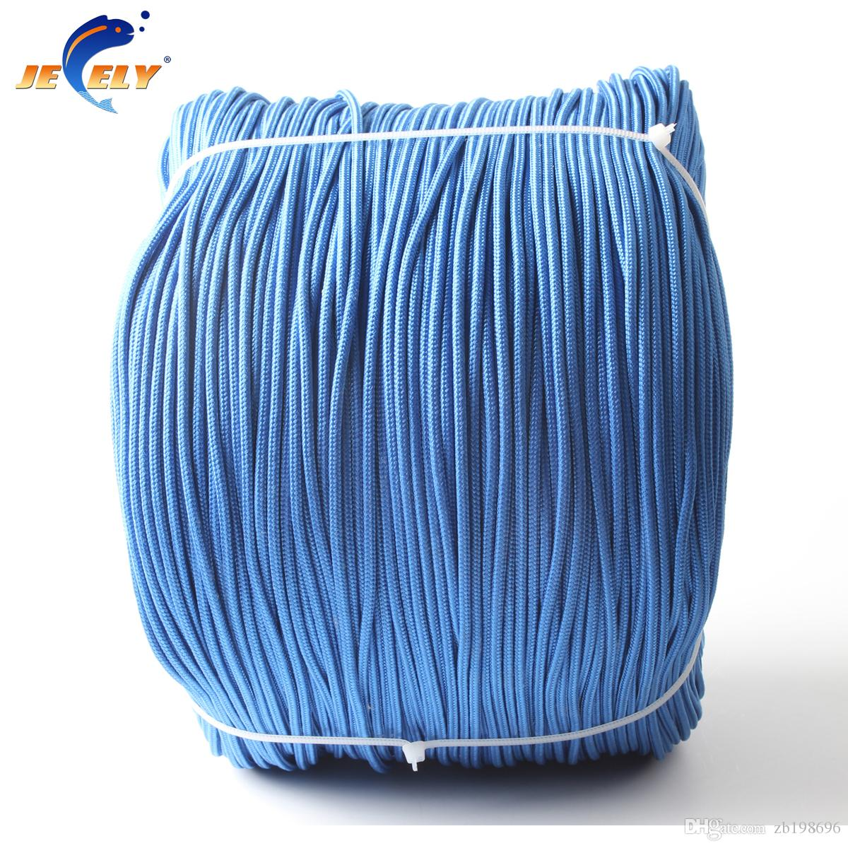50M 1.3mm UHMWPE Towing Winch Line Polyester Jacket 16 Strands Round ...