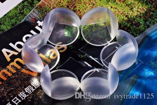 Avec ruban adhésif Soft PVC PVC transparent Boule de sécurité en forme de bille en forme de bouchon de coin protecteur / Coussin anti-collision angle de table pour enfants