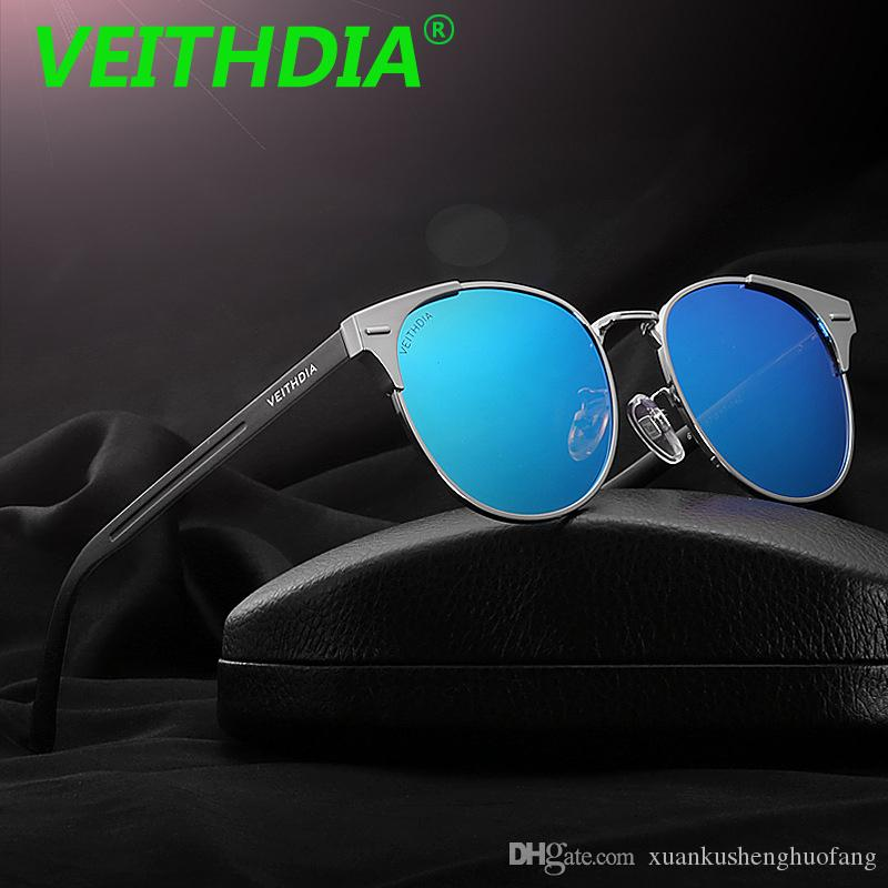 ea5e5fb28e VEITHDIA Unisex Fashion Round Retro Aluminum Magnesium Sunglasses Polarized  Lens Eyewear Sun Glasses For Men   Women Brand With Original Box Best  Sunglasses ...