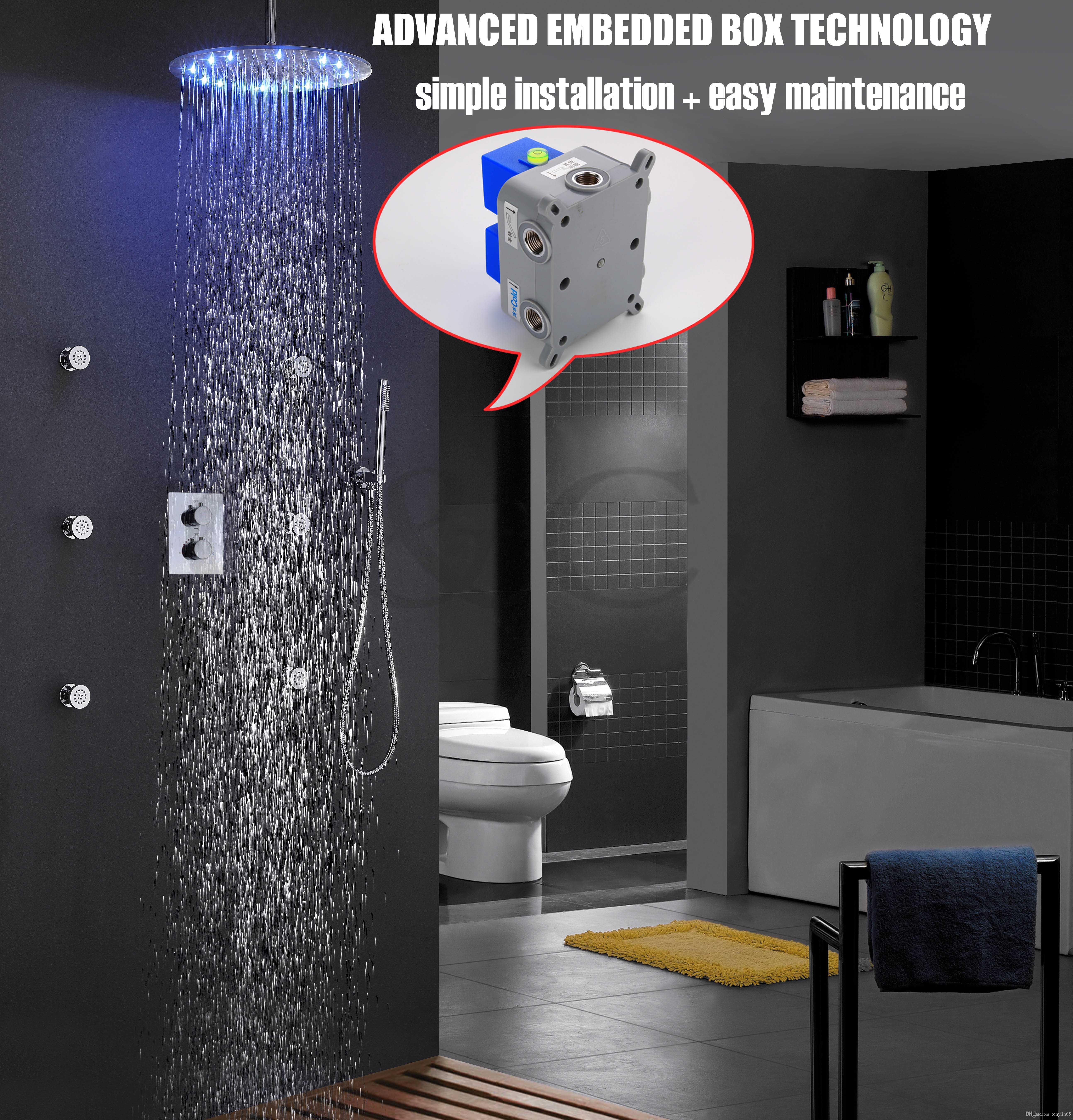 Good Quality! Thermostatic Bath Shower Faucet Set Easy Installation ...