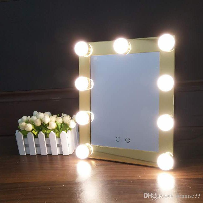 Hollywood Makeup Mirror With Led Lights Aluminum Vanity Makeup