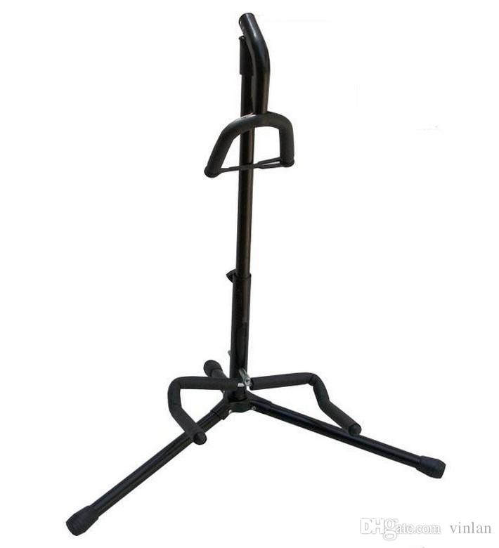 1 pz nero chitarra stand strumento musicale verticale nylongtr rack pieghevole acustico chitarra elettrica stand parti di chitarra