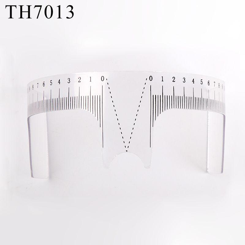 Microblading الحواجب حاكم البلاستيك الحاجب الرصيد حاكم قياس تشكيل أداة الوشم استنسل الملحقات ماكياج دائم الوشم المؤقت