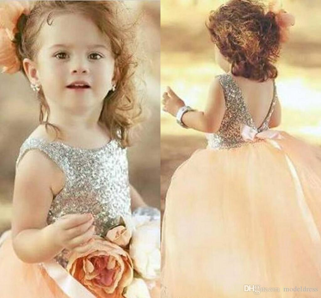 2017 new design coral flower girls dresses for weddings sequins ball 2017 new design coral flower girls dresses for weddings sequins ball gown princess cheap girls pageant gowns party first communion dress toddler flower girl izmirmasajfo