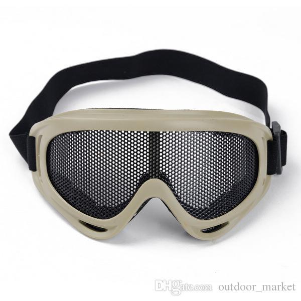 NOVO Hunting Airsoft tático Olhos Proteção Metal Mesh Pinhole Óculos Goggle