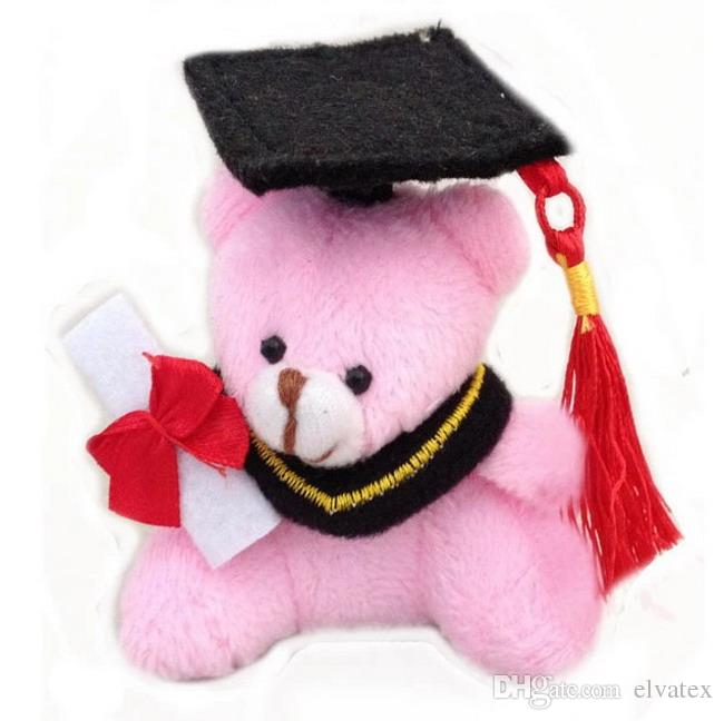 H=7cm Urso De Formatura Teddy Bear Graduation Bear Plush Joint Doctor Bear Pendants Craft Doll Student Stripes,To Choose