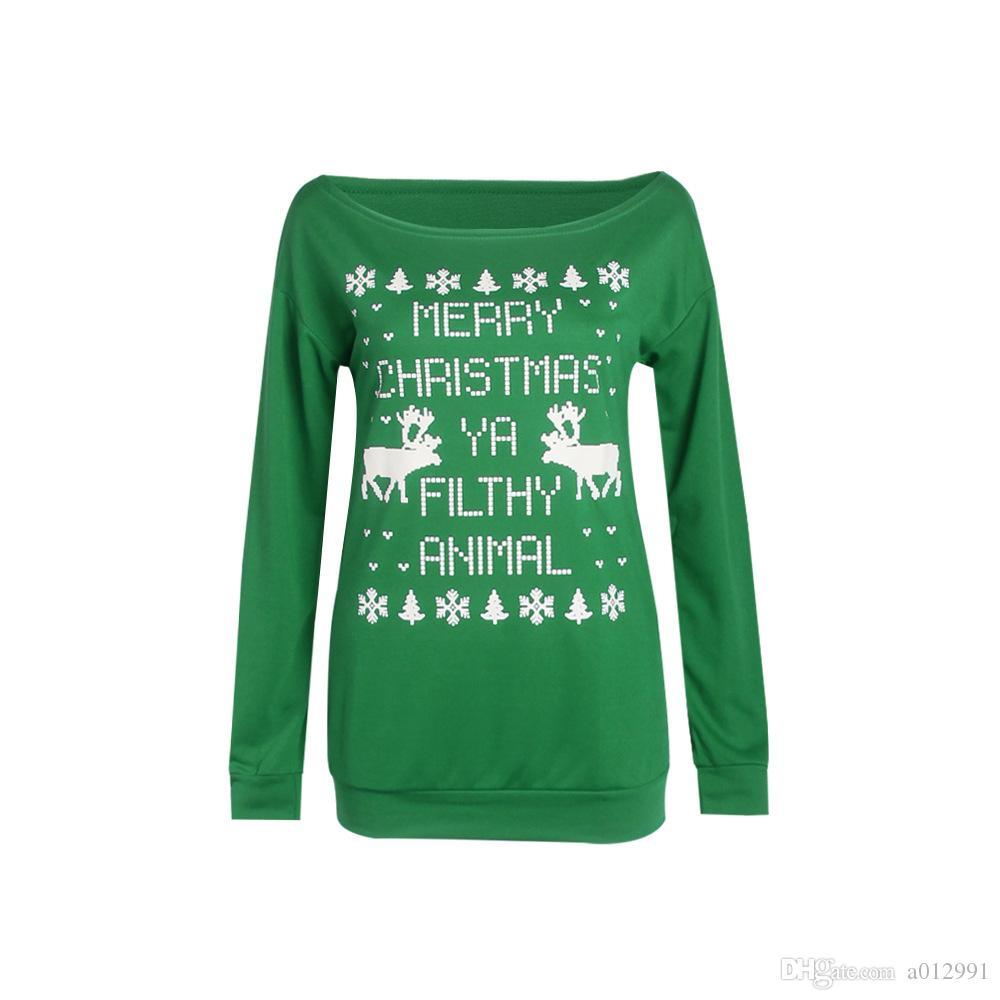 2017 D'hiver De Noël Femmes Renne Chandail Femelle De Cerf Flocon De Neige De La Mode Épaissir Pulls Dame Tricoté Coton Chandails 6864