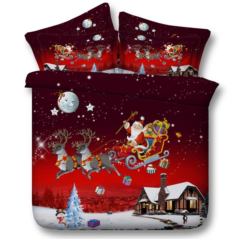 Christmas Bedding Set Comforter Comforters Duvet Cover Bed Sheet