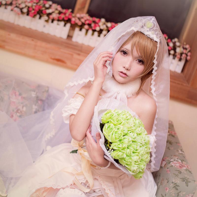 Koizumi Hanayo Cosplay Love Live Wedding Dress School Idol Project