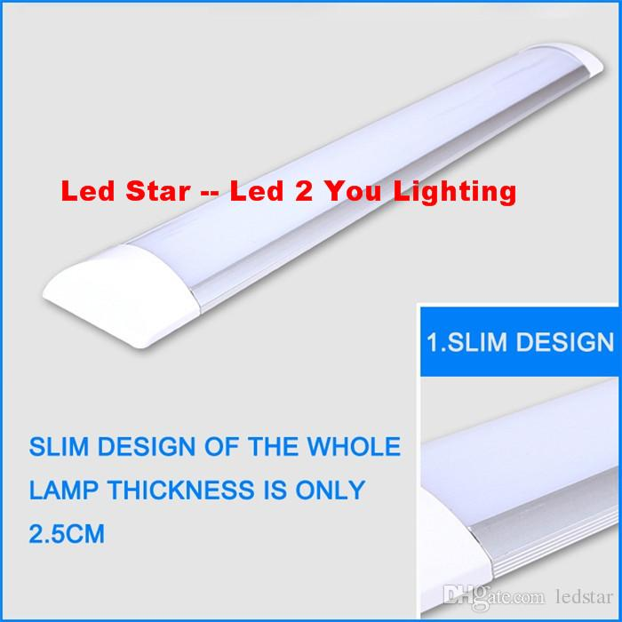 LED tri-proof Light Batten T8 Tube 1FT 2FT 3FT 4FT Explosion Proof Two LED Tube Lights Replace Fluorescent Light Fixture Ceiling Grille Lamp