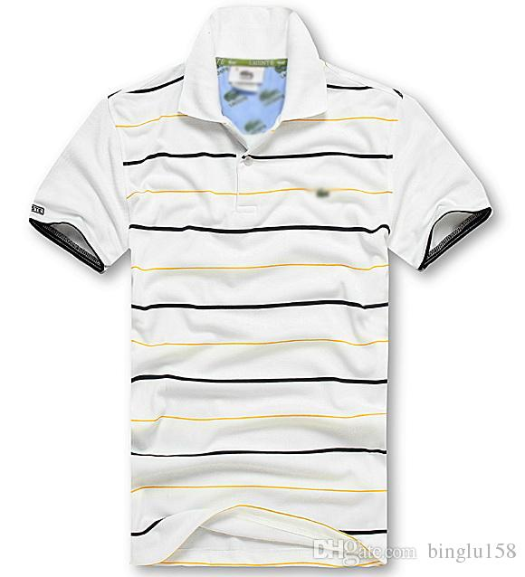 2017 Summer Hot Sale Polo Shirt Brand Polos Men Short Sleeve Sport Crocodile Logo Polo Man Coat Drop