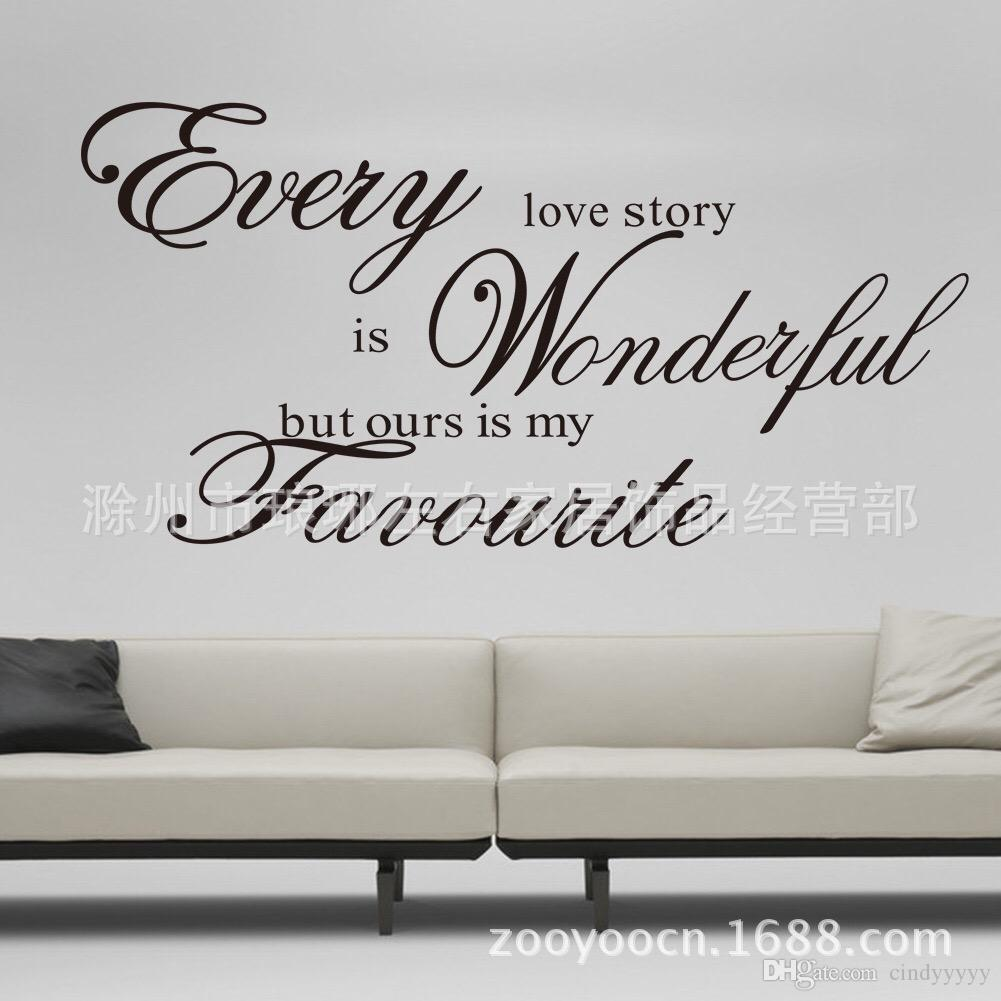 2018 every love story wall sticker vinyl quotes and sayings home 2018 every love story wall sticker vinyl quotes and sayings home decoration living room inspirational wall decals quotes art from cindyyyyy 438 dhgate amipublicfo Image collections