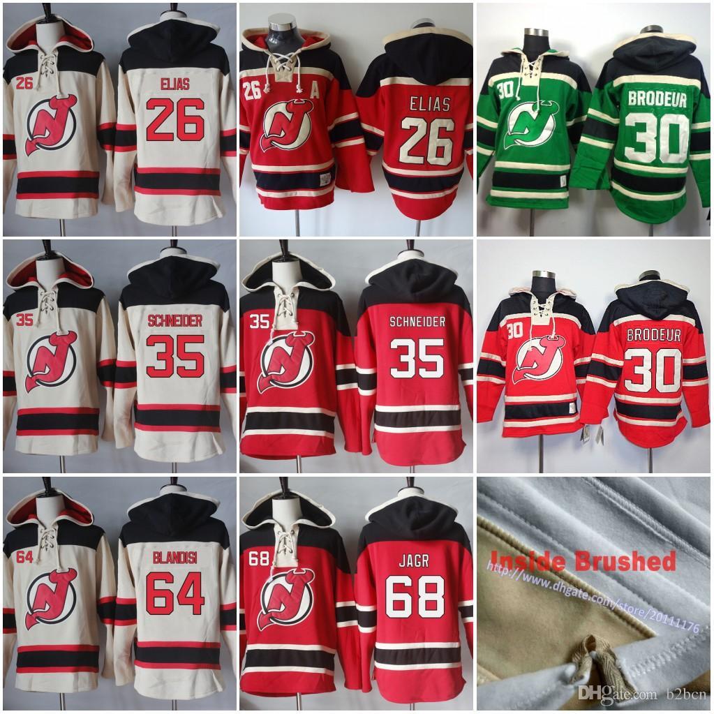 2019 68 Jaromir Jagr 30 Martin Brodeur 35 Cory Schneider 64 Joseph Blandisi  Mens New Jersey Devils Blank Hockey Hoodie Jersey Hoodies Sweatshirts From  B2bcn ... b1a9e451a