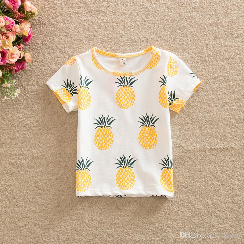 2017 Baby Clothes 2016 Summer Girls T Shirt Kids Tops