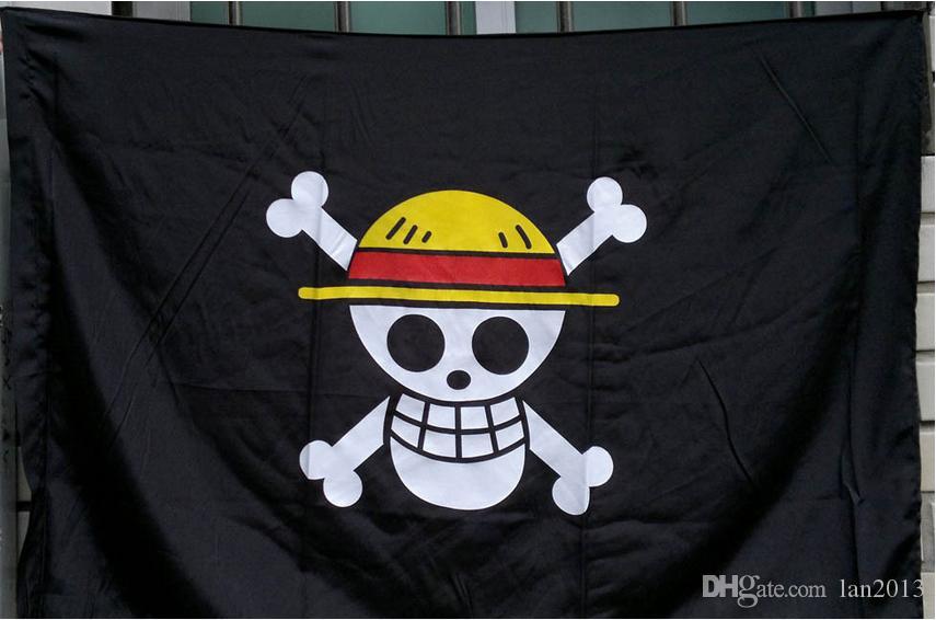 Ücretsiz Shiping One Piece Hasır Şapka İskelet Kafatası Bayrağı Korsan Luffy Cosplay Aksesuar