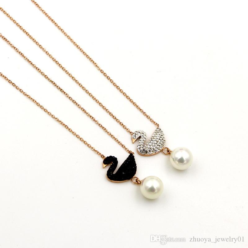 Women Stainless Steel Chain necklaces & pendants Jewelry stainles stell fashion jewelry mother of pearl jewelry